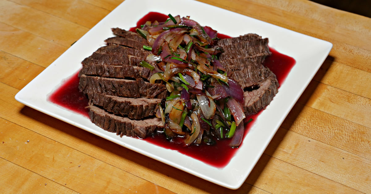 Wine & Pomegranate Braised Brisket - Kosher Recipes & Cooking